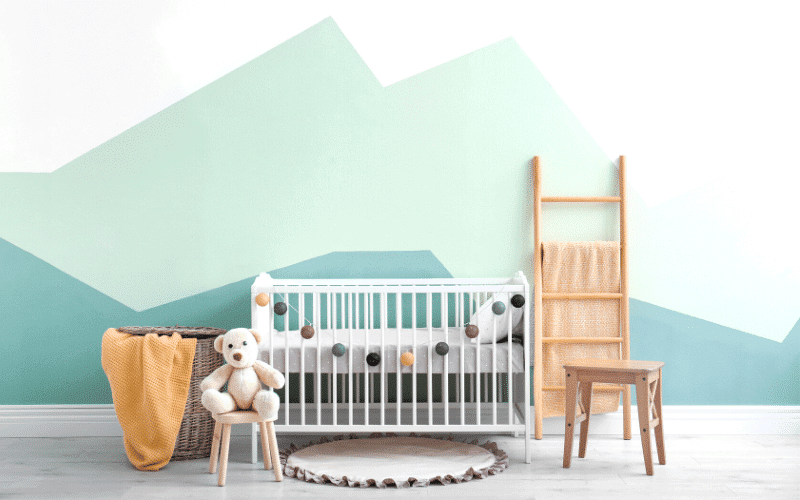 cute baby bedroom and crib