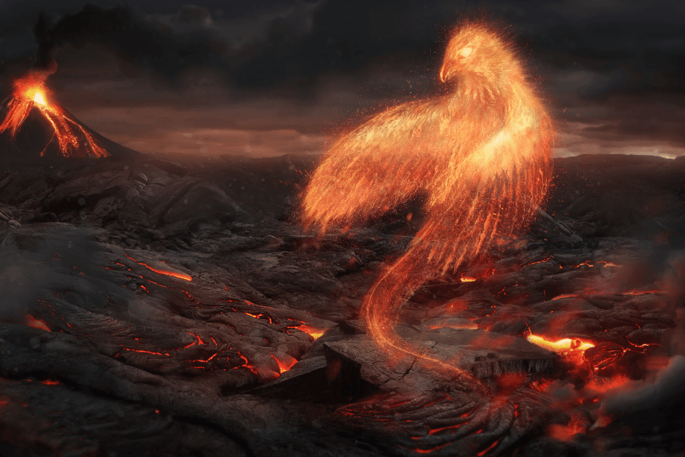 the phoenix rising from the ashes